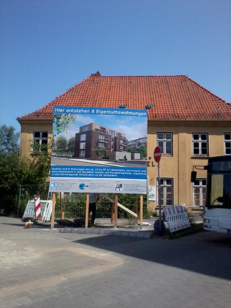 Bauschild Wohnungen an der Schwentine