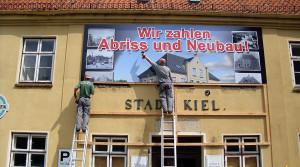 Bauschild Stadt Kiel